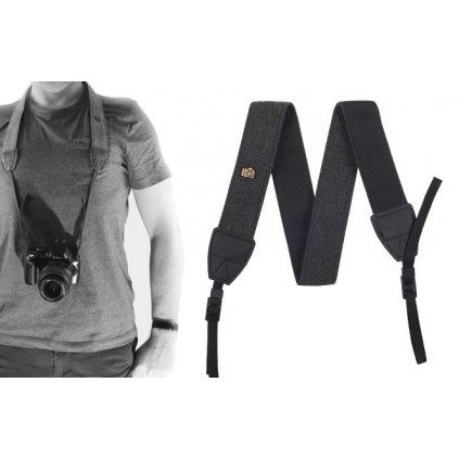 Fotografický popruh pre fotoaparát 90 - 130 cm (šedý)