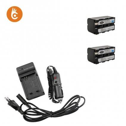Sada nabíjačka+2 batérie Sony NP-F750