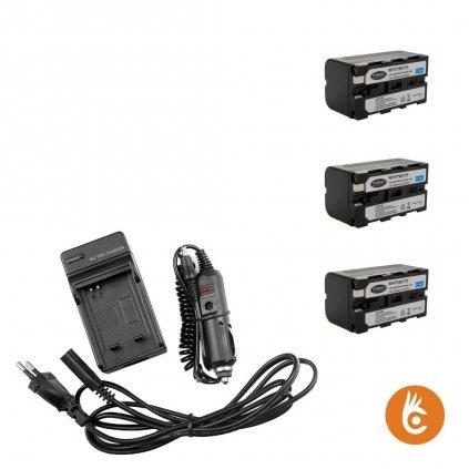 Sada nabíjačka+3 batérie Sony NP-F750