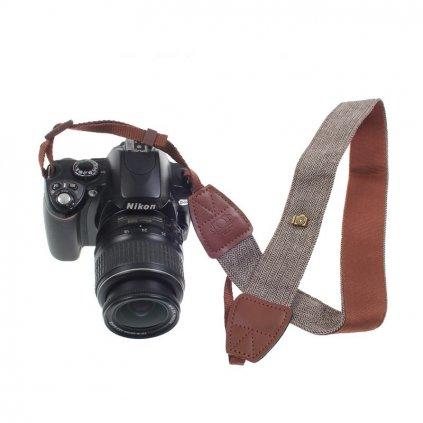 Fotografický popruh pre fotoaparát 90 - 130 cm (hnedý)