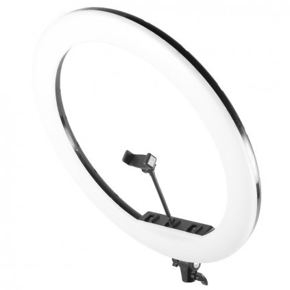 """Perfect as a selfie lamp, make-up, Instagram photos or recording YouTube videos, instastories or vlogs. Perfectly distributes the light, giving even illumination of the face. The ring lamp is a real """"must have"""". The ring USB LED lamp is ideal for photography of small objects and macro photography. As one of the few, it is completely flicker-free - it does not mislead the camera's white balance meter. The lamp provides long-term trouble-free operation and excellent color reproduction."""