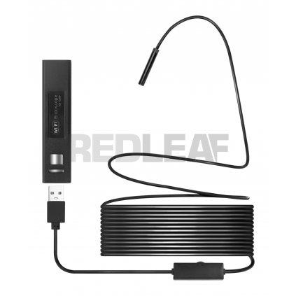 Endoskop WiFi Redleaf RDE 510WS elastyczny kabel 10 m 01 HD