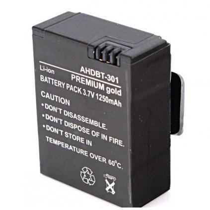 Batéria AHDBT-301, 1250mAh na GoPro Hero 3/3+