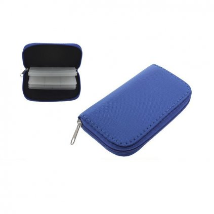 mini portable memory sd protector pouch bag blue