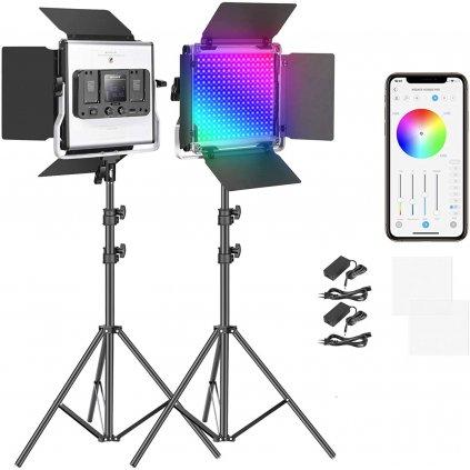 Profesionálne RGB LED video svetlo - 360°, CRI 98+