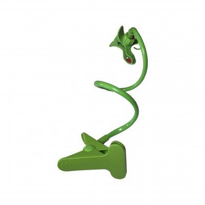 Flexibilný držiak na telefón s uchytávacím klipom - zelený