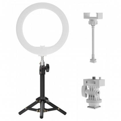 Kruhové svetlo Newell (arktické biele LED svetlo) + statív.