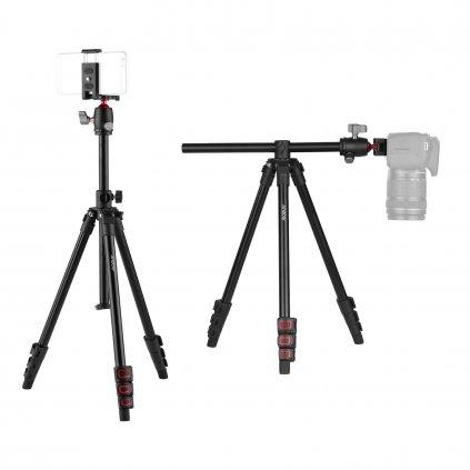 Kamerový statív horizontálny : vertikálny červený