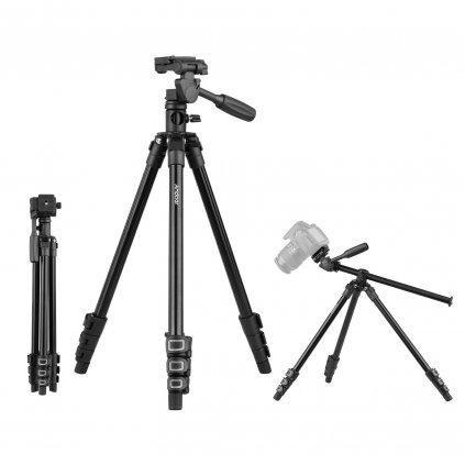 Kamerový statív horizontálny:vertikálny šedý 154cm