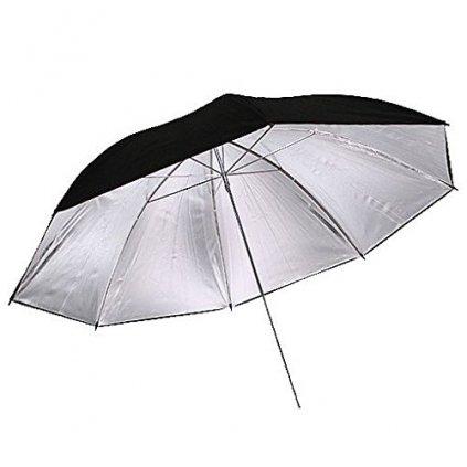 Reflexný dáždnik čierno / strieborný 110cm BRESSER BR-BS110