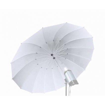 Priehľadný dáždnik Jumbo biely 162 cm BRESSER SM-08