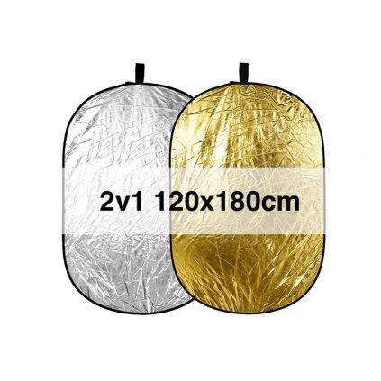 Skladacia odrazová doska zlatá / strieborná 120x180cm