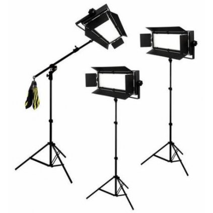 Štúdiový set foto-video LED 3x LG-900 54W/8860LUX + 3x statív BRESSER