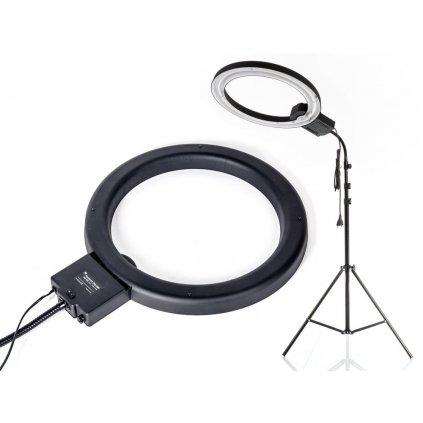 Kruhové svetlo 65W + difúzor + štúdiový statív 230cm