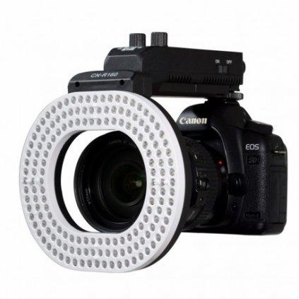 Fotografické kruhové svetlo so 160 LED diódami