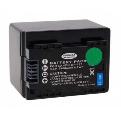 Batéria BP-727 pre fotoaparáty Canon (CHIP) 2900mAh