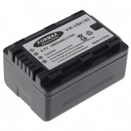 Batéria VW-VBK180 s kapacitou 2000 mAh pre fotoaparáty Panasonic HDC-SDX1, HDC-SD60, HDC-SD66