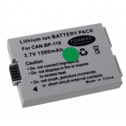 Batéria BP-110 pre fotoaparáty Canon (CHIP) 1500mAh