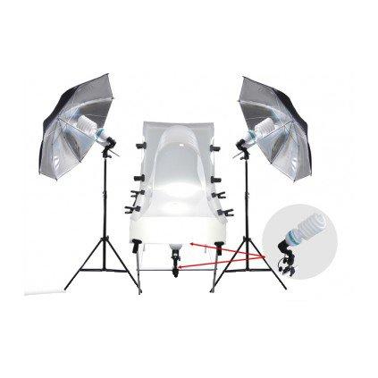 Fotostôl set 60x130cm + 4x 125W
