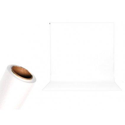 Papierové foto pozadie 1,36 x 5,5m super biela