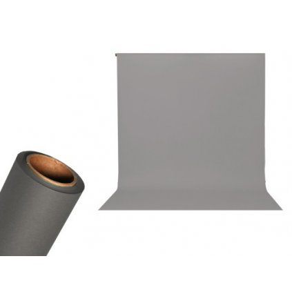 Papierové foto pozadie 1,36 x 5,5m vesmírna šedá