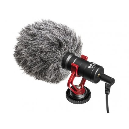 Kondenzátorový mikrofón s výstupnými káblami TRS a TRRS BOYA BY-MM1