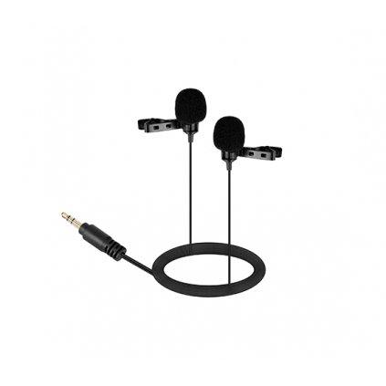 Dvojitý stereo mikrofón s klipom BOYA BY-LM300