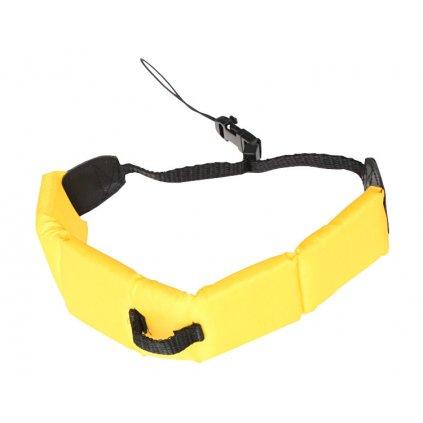 Pohyblivý posuvný popruh pre fotoaparáty alebo športové kamery - farba žltá