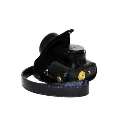 Čierne puzdro pre fotoaparát Lumix LX100