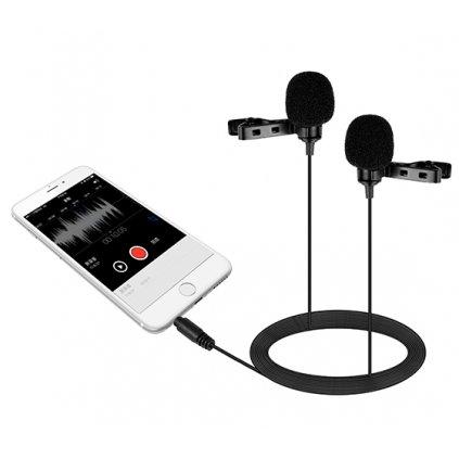 Dvojitý mikrofón Lavalier s klipom pre telefóny a smartfóny Boya BY-LM400