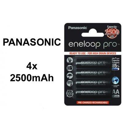 Dobíjateľné batérie Panasonic eneloop PRO AA R6 2450mAh