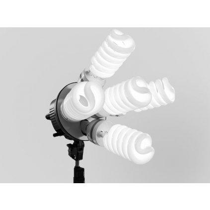 Okrúhly držiak pre päť žiaroviek E27 pre softbox