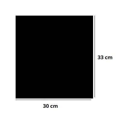 Akrylová podložka 30x33cm ČIERNA