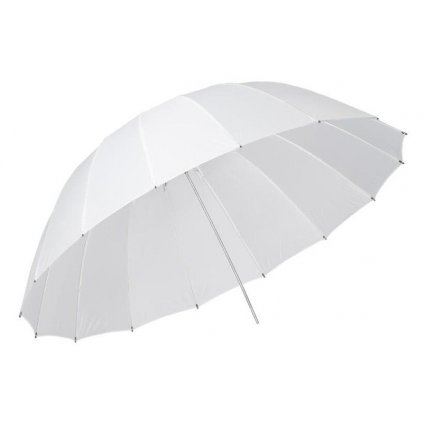 Dáždnik biely 185cm, sklolaminát