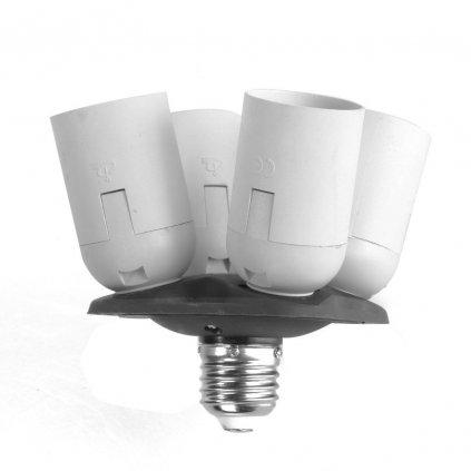 Objímka pre 4 žiarovky E27