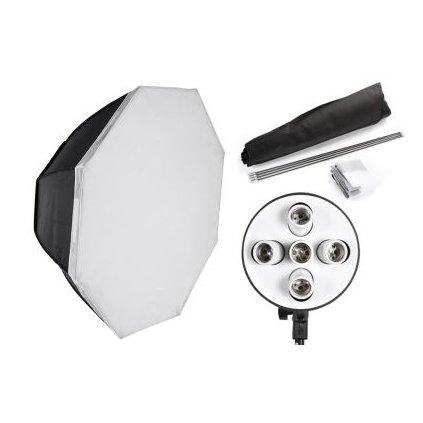 Osemhranný softbox OCTA 90 cm pre 5 žiaroviek E27
