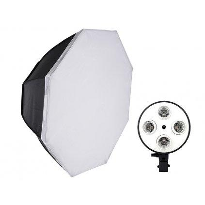 Osemhranný softbox OCTA 85 cm pre 4 žiaroviek E27