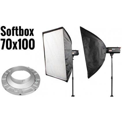 Softbox 70x100cm, úchyt Bowens