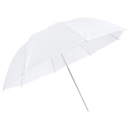 Transparentný štúdiový dáždnik biely 100cmTransparentný štúdiový dáždnik biely 100cm