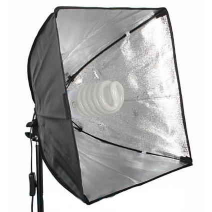 Softbox 40x40 cm pre žiarovku E27