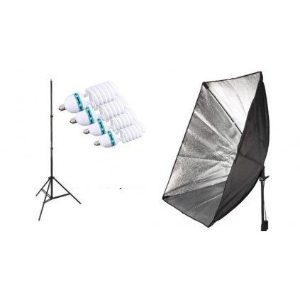 Zostava L17: Statív 230 cm + softbox 50x70cm na 4 žiarovky 45W
