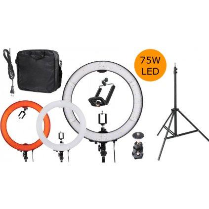 Kruhové LED svetlo 75W so stmievačom, + statív 230cm