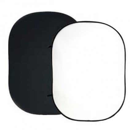 Prenosné fotopozadie 120x150cm, čierna/biela, Bresser
