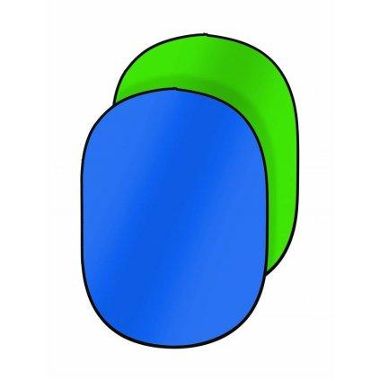 Prenosné fotopozadie 150x200cm, modrá/zelená, Bresser