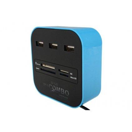 Univerzálna externá čítačka USB 2.0 s rozhraním HUB
