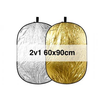 Skladacia odrazová doska zlatá / strieborná 60x90cm
