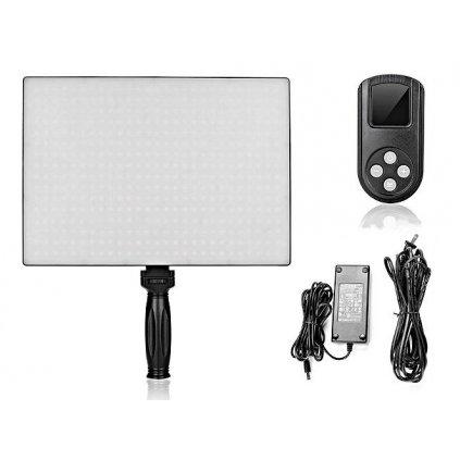 Fotografické panelové LED svetlo 3200 - 5600K - 432 LED diód