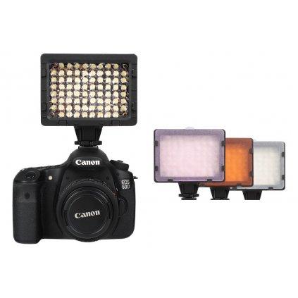 LED video svetlo - 76 LED diód + 3 filtre