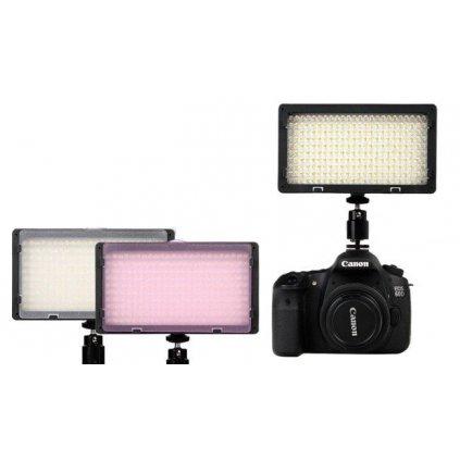 LED video svetlo s reguláciou farieb - 240 LED diód + 2 filtre