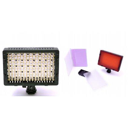 LED video svetlo - 160 LED diód + 3 filtre